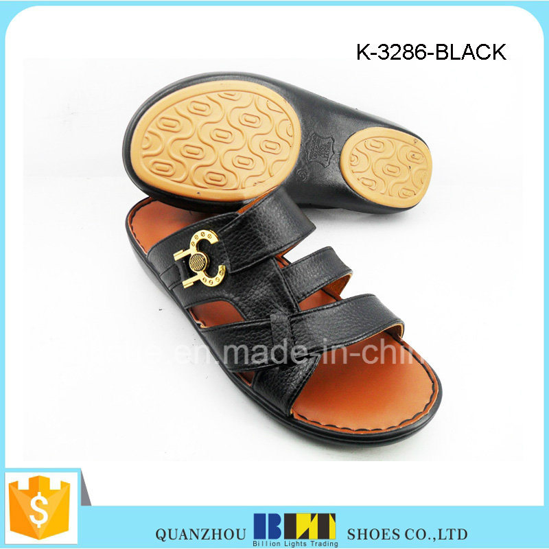 Hot Sale Men Fashion PU Upper Arabia Slippers