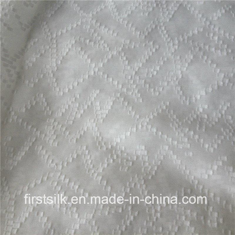 Silk Cotton Clip Woven Fabric