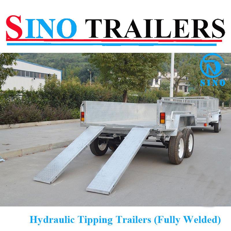 3t Australian Heavy Duty Hydraulic Tipping Tandem Box Trailer