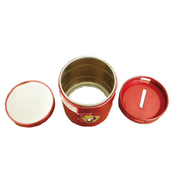Round Tin Container Cheap Piggy Bank Tin Contanier