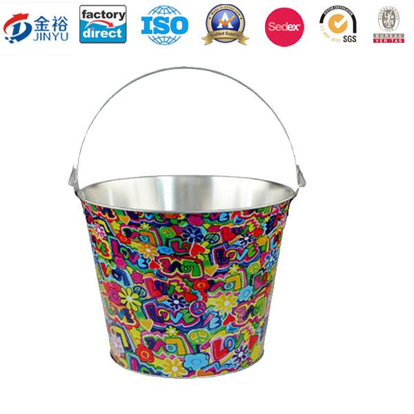 Promotional Gift Tin Ice Bucket Jy-Wd-2015120201