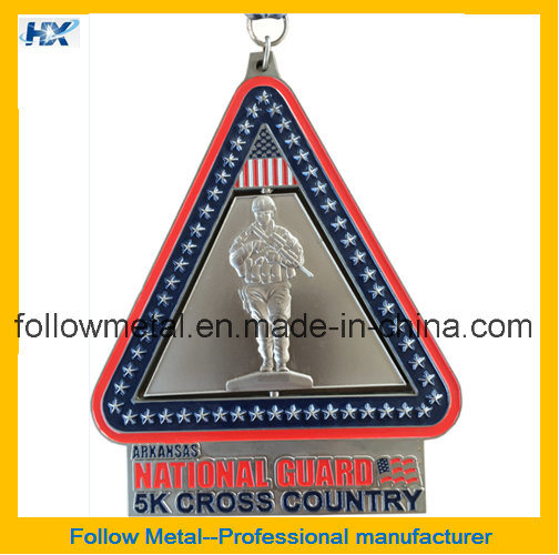 Custom Spin Medal with Sublimation Ribbon for Finisher