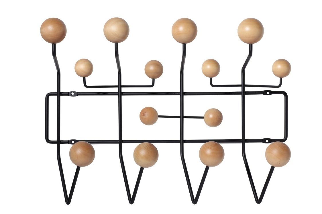 Eames Hang It All Wall Iron Wood Ball Hooks
