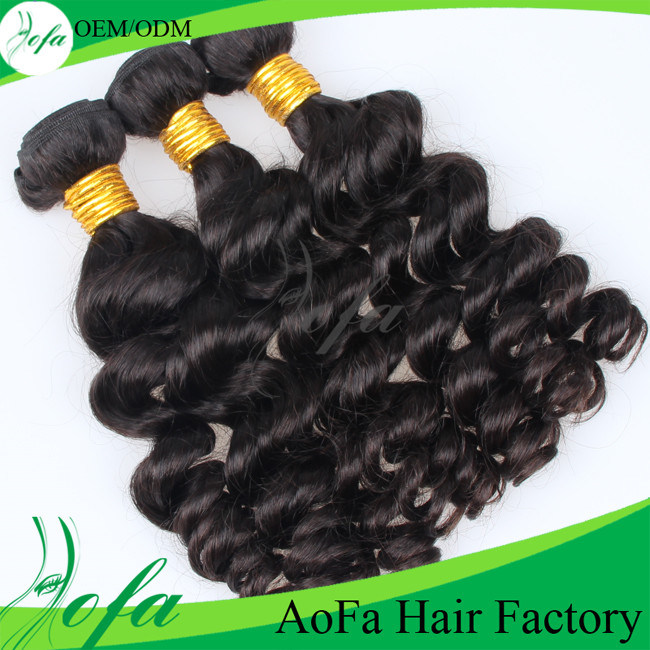 Guangzhou Aofa 7A Grade Body Wave Brazilian Human Hair Weft Virgin Hair Extension