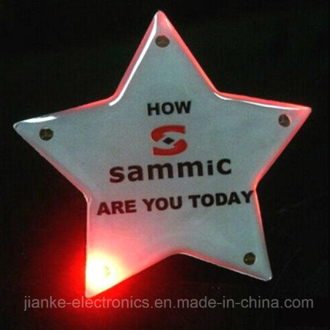 Hot Promotion LED Flashing Start Magnet with Customized Design (3161)