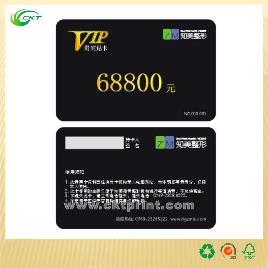 3D Printing PVC Card, Business Card with Embossing (CKT-PC-1115)