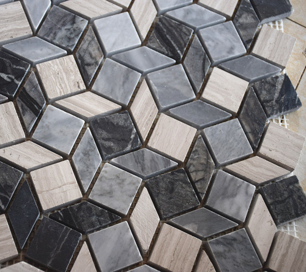 Building Material Mixed Marble Mosaic Stone Wall Tile