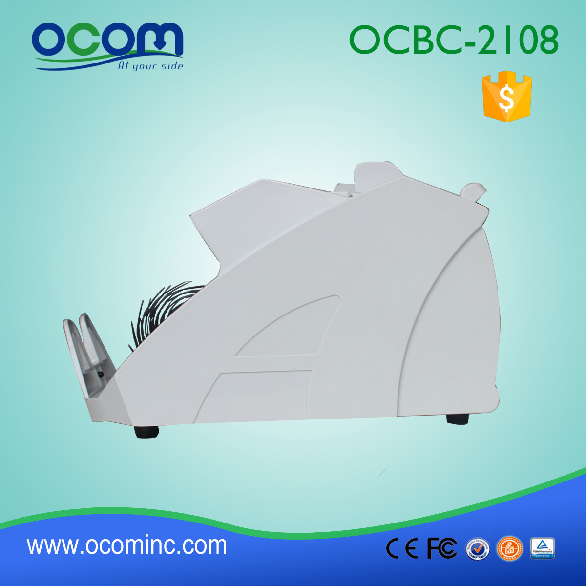 Ocbc-2108 UV+Mg Money Currency Banknote Counter and Decetor