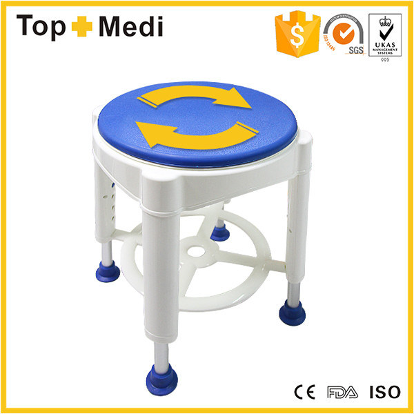 Topmedi Medical Equipment Bathroom Safety Rotatable Swivel Seat Shower Bath Chair