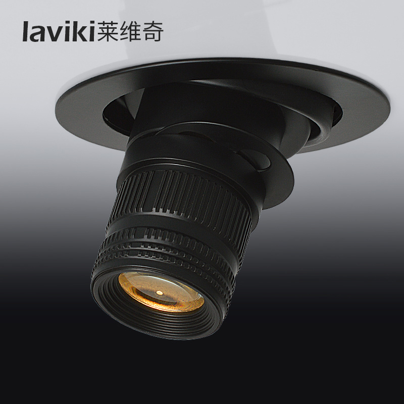 12W Black Recessed Dimmable Zoomable Beam Angle Adjustable COB LED Spot Light with CCT Changeable