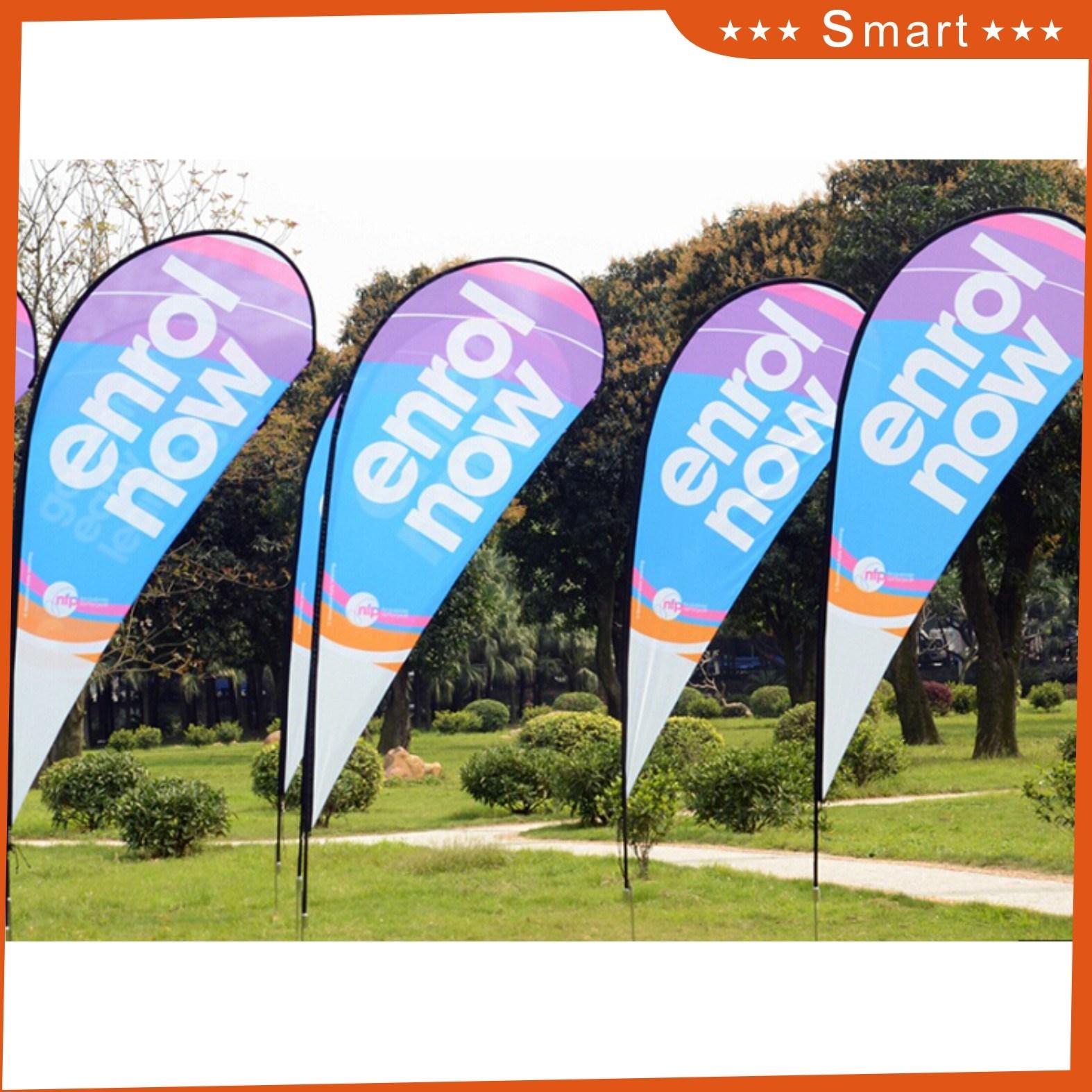 Custom Logo Print Teardrop Beach Flag Advertising Flying Banner