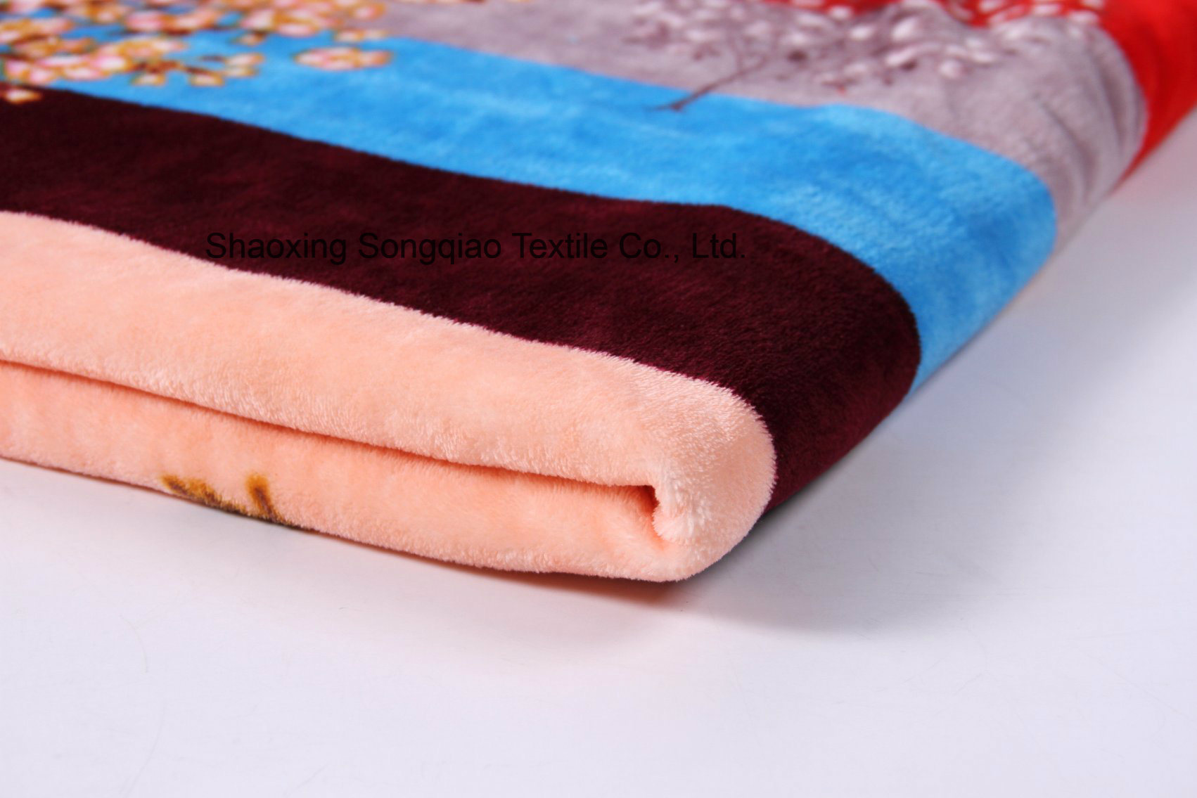 Printed Polyester Flannel/Coral Fleece Fabric - 16649-9 1#