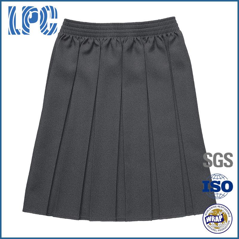 Classic School Uniform Girls Pleat Skirt with Elastic