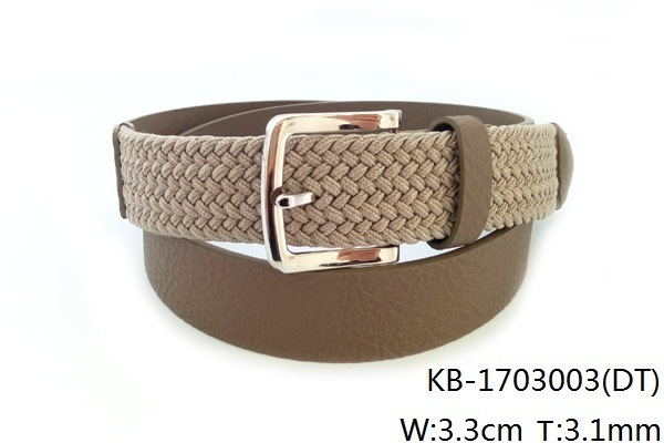 New Fashion Men PU Woven Belt (KB-1703003)
