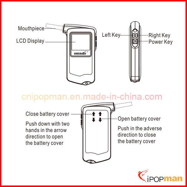 Fuel Cell Sensor Alcohol Tester LED Breath Alcohol Tester Vending Breathalyzer