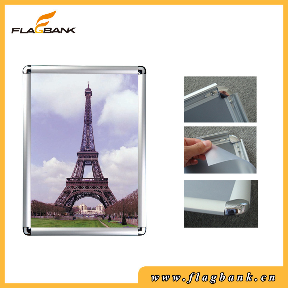 A4 Wall-Mounted 25mm Edge Round Corner Snap Frame/Clip Frame