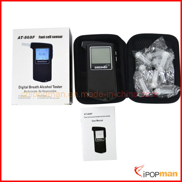Fuel Cell Sensor Alcohol Tester LED Breath Alcohol Tester Vending Breathalyzer