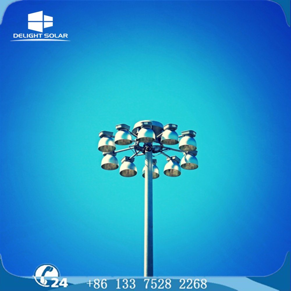 18m/20m/30m Polygonal/Conical Steel Pole Lighting Tower High Mast Lamp