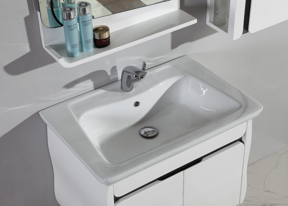 High Quality MDF White Customized Bathroom Furniture Cabinet