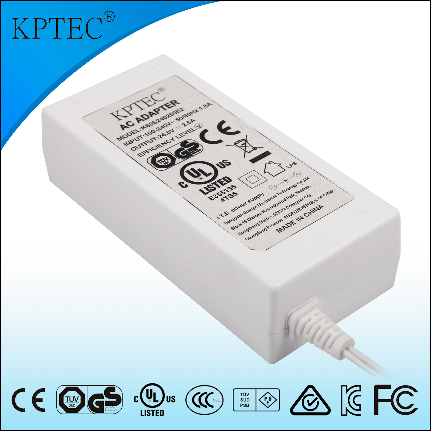 60W 65W Power Supply with UL Ce GS Certificates Desktop