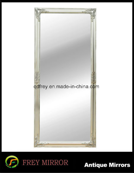 Antique Design Platane Wood Bathroom Mirror