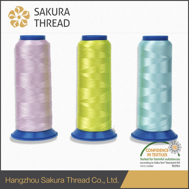 Oeko-Tex Sakura 100% 50d Polyester Filament Embroidery Thread