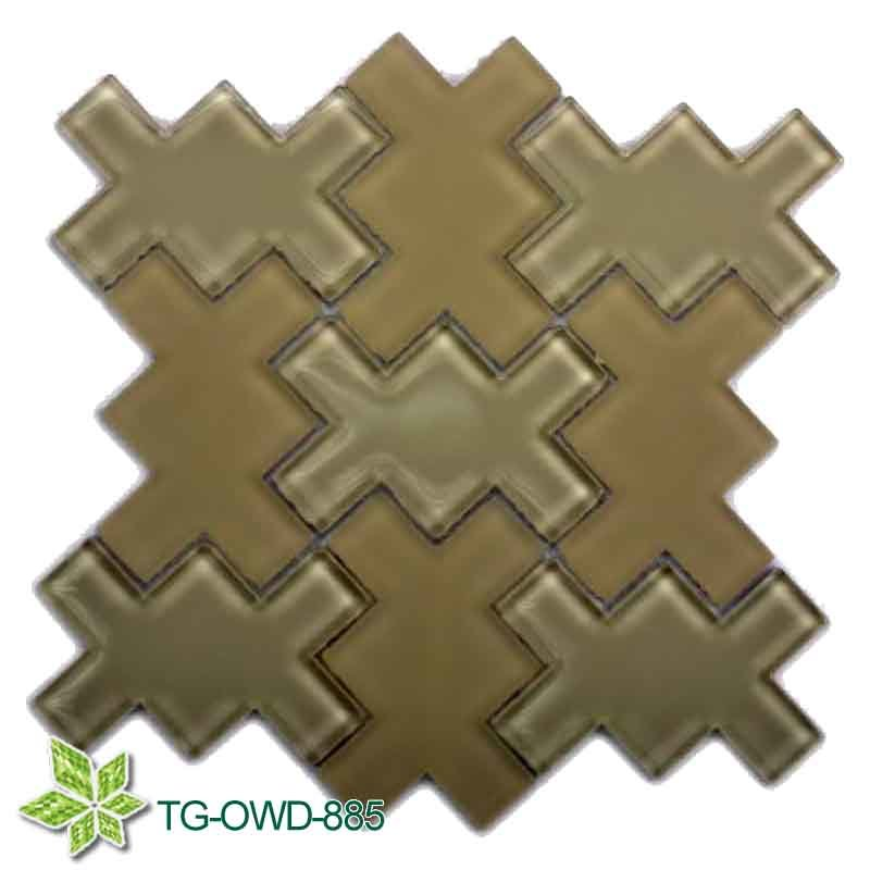 Brown Irregular Glass Mossaic (TG-OWD-885)