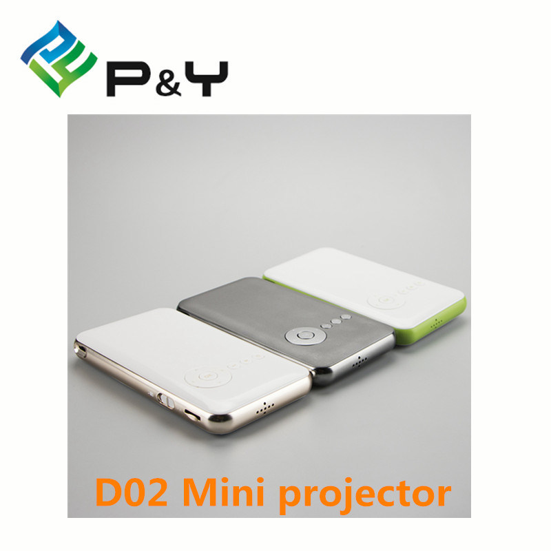 Hot Selling Mini Smart HD Projectors Support Micro USB Powered Mini LED Projector D02