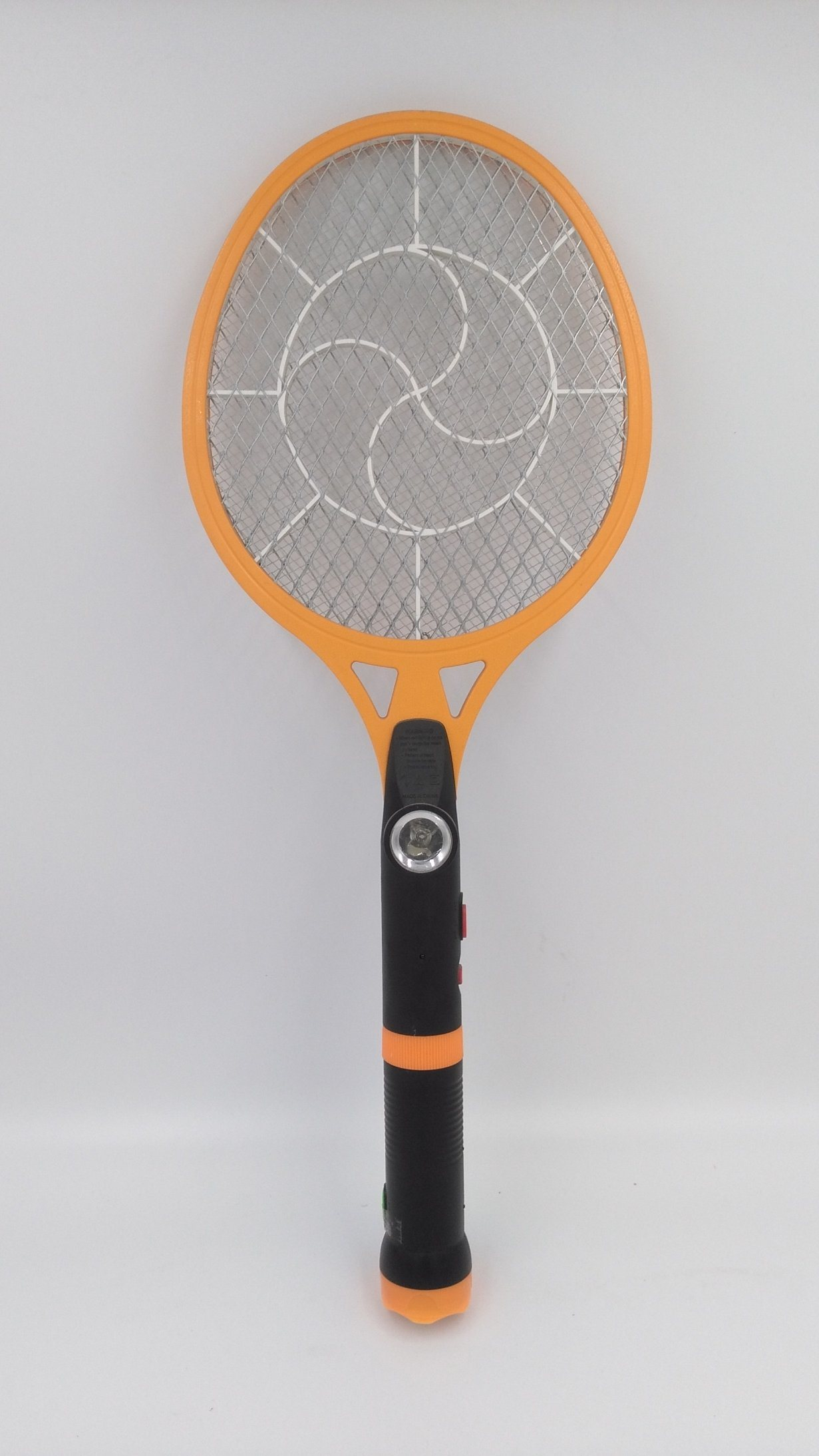 Three Layers Eco-Friendly Rechargeable Mosquito Racket with LED Light & Separable LED Torch