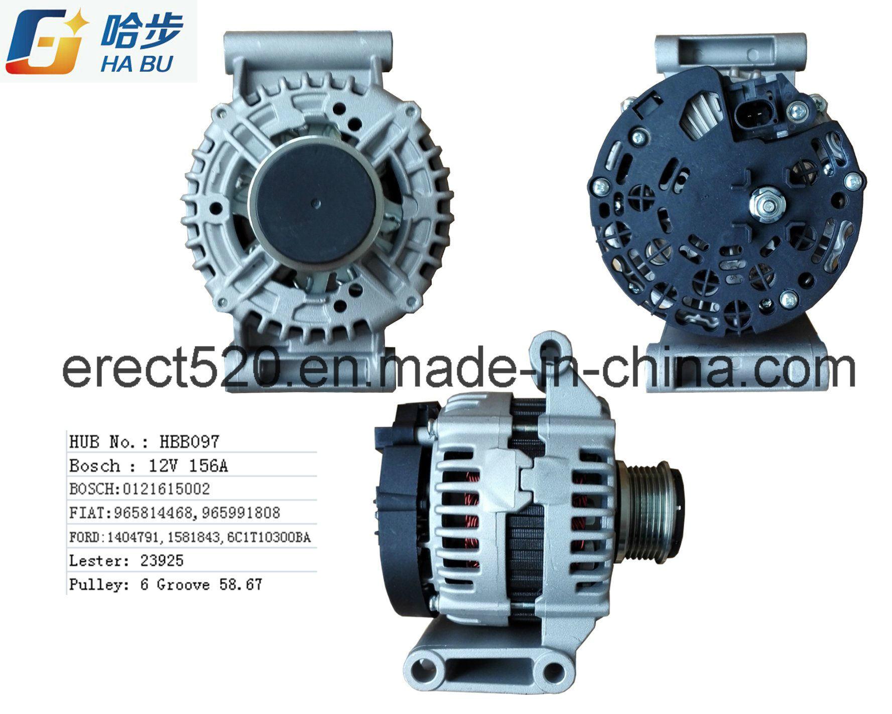 Transit Alternator Ca1922IR 12V 150A 0121615003 for D 6c1t10300ca Lester 23925, Wai 1284300bo
