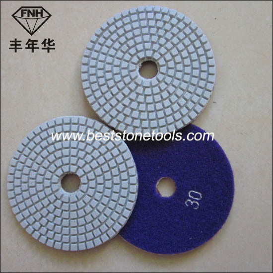 Flexible Wet Diamond Polishing Pad for Stone
