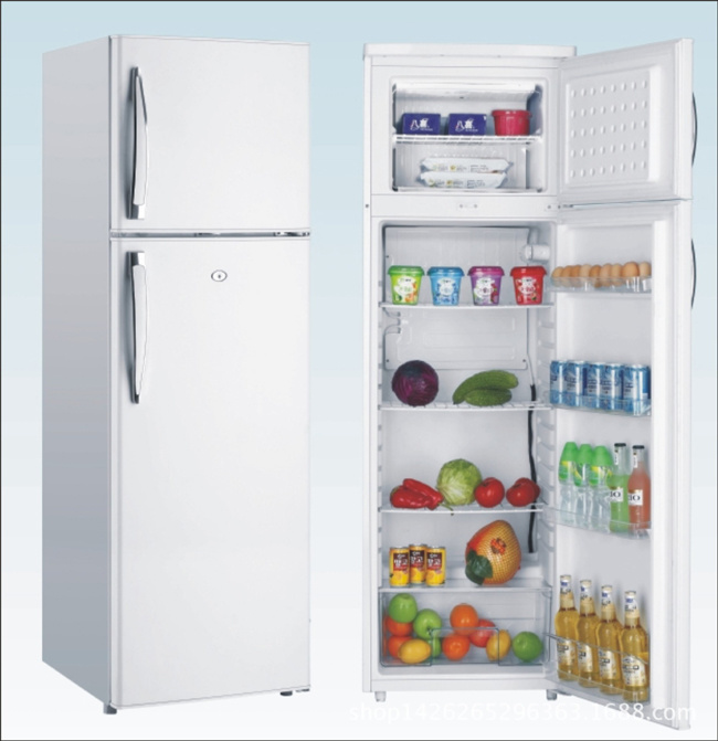 215L DC Compressor Solar Energy Powered Freezer Refrigerator Fridge