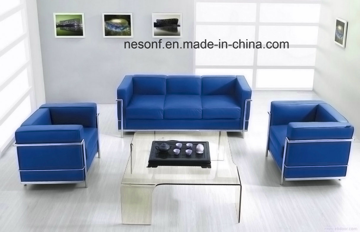 Stainless Steel Office Furniture Waiting Leather Office Sofa (NS-2328A)