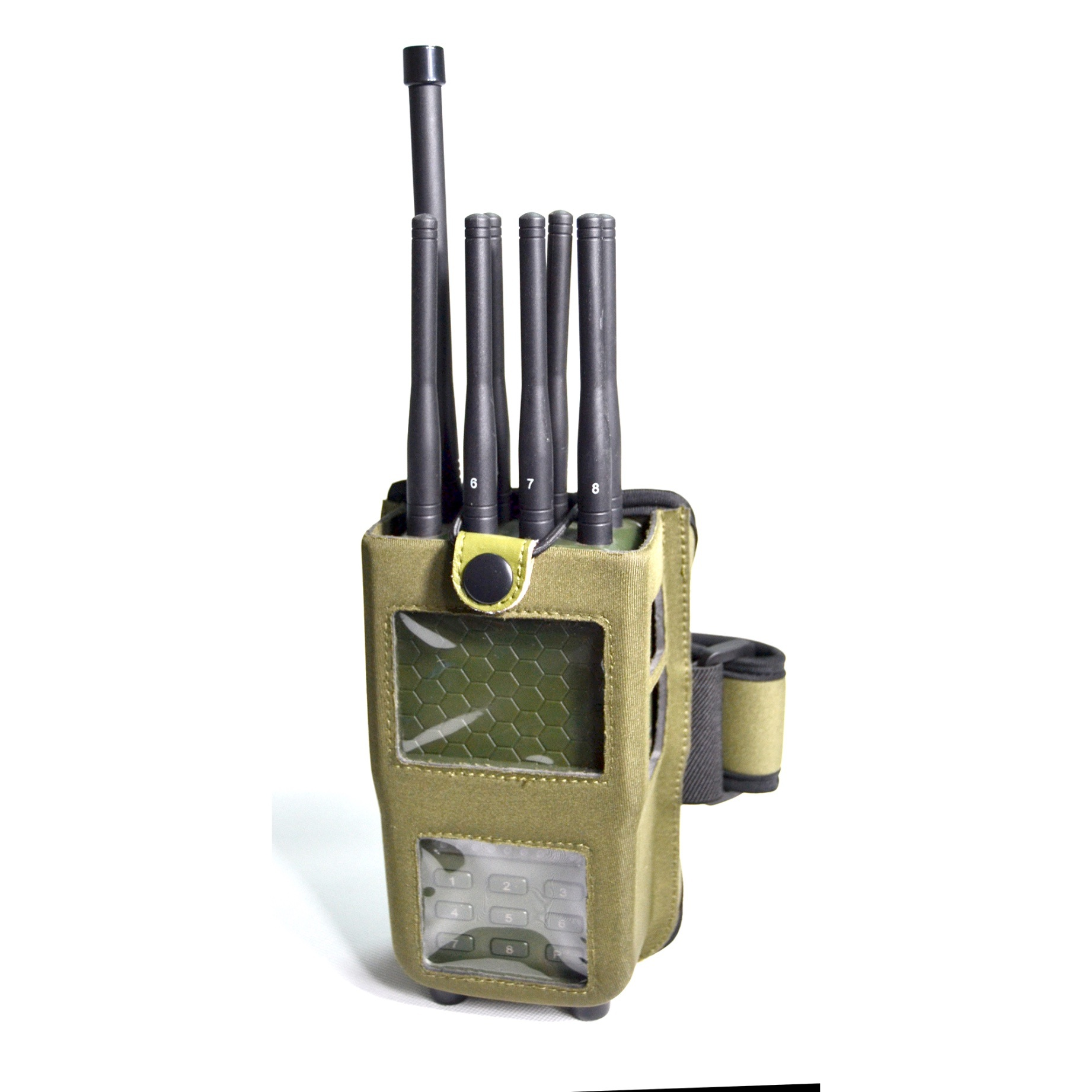 Newest Portable Hanheld High Power 8-Channel Cellphone 2g 3G 4G GSM CDMA Signal WiFi Radio Lojack Jammer,3G 4G Cell Phone, Lojack 173MHz,RC433/315MHz GPS Jammer
