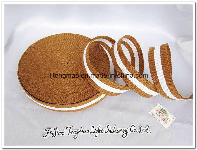 20mm Brown White Cotton Belt