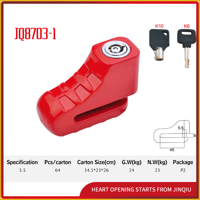 Jq8703-1 Colorful Popular Safety High-Quality Bicycle Lock Motorcycle Disk Lock