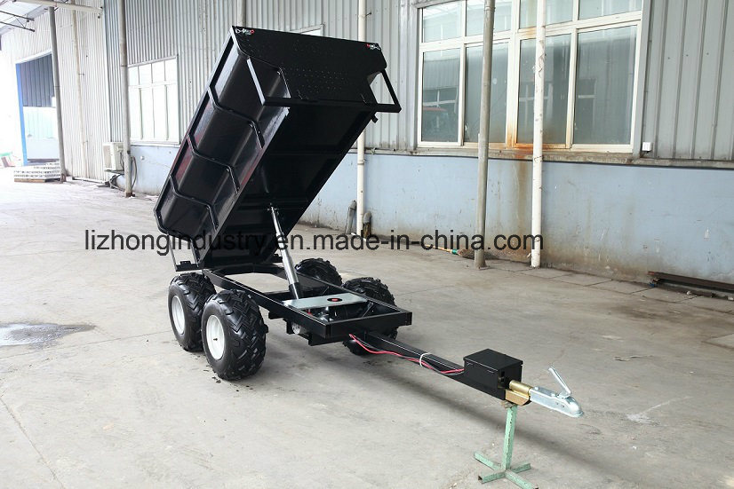 1.5t Load Capacity Hydraulic Tipping Farm Trailer, ATV Dumper Trailer, Utility Trailer
