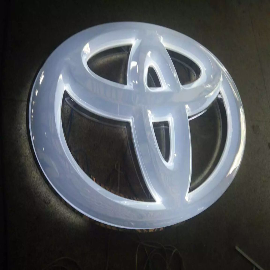 3D Car Logo Illuminated LED Car Logo