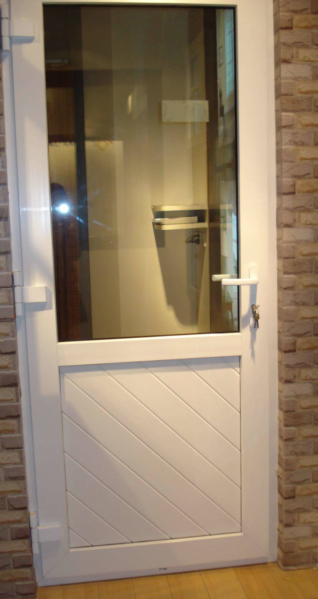 China Pvc Door Half Glass And Half Panel Door China