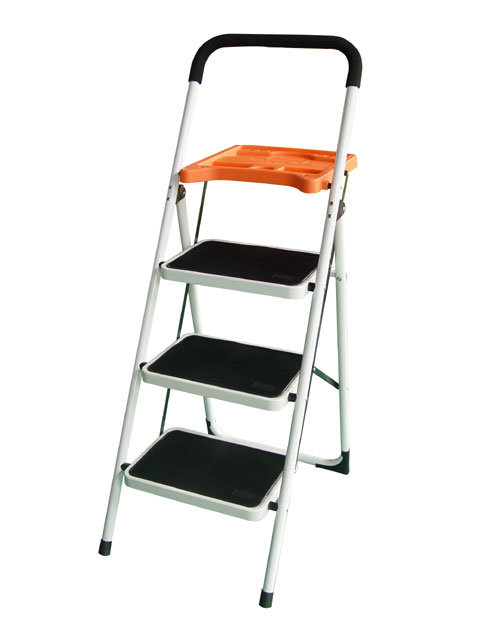 China 3 Step Steel Ladder With Tools Tray 8053 China