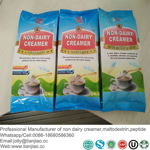 250g Sachet Package Instant Non Dairy Creamer for Africa Marketing