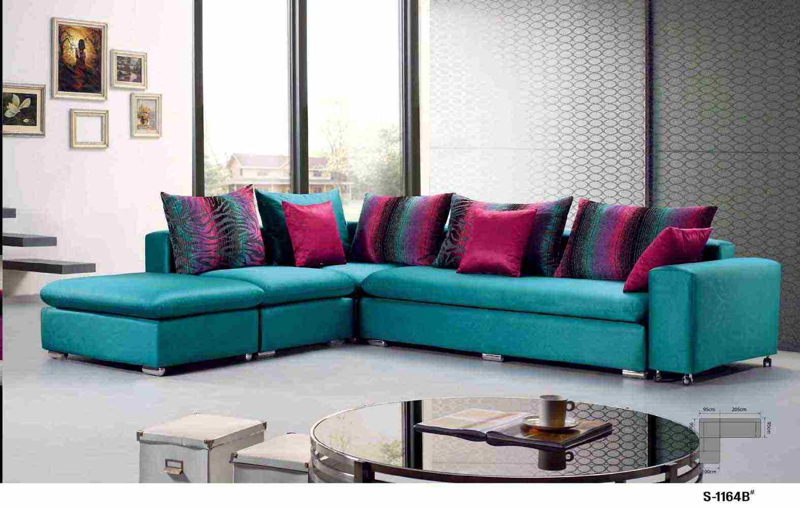 China colorful fabric sofa s 1164b china sofa fabric sofa for Colorful living room furniture