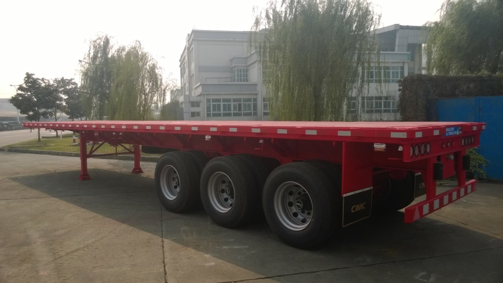 Stock 40FT Flatbed Truck Trailer Available with Low Price