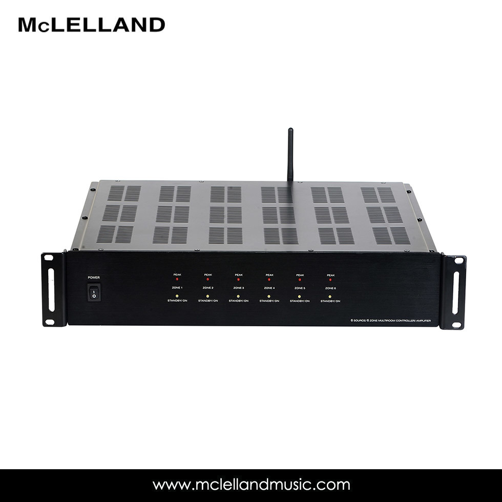 6source/6zone Mutil-Room Amplifier with Stream Audio (MAP-1200WS)