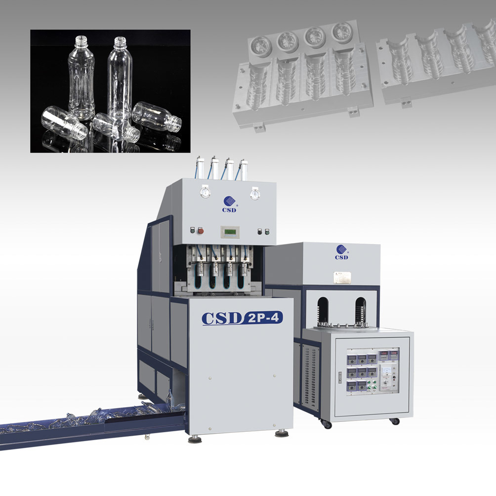 CE Approved Pet Semi-Automatic Blow Molding Machine (CSD-2P-4)