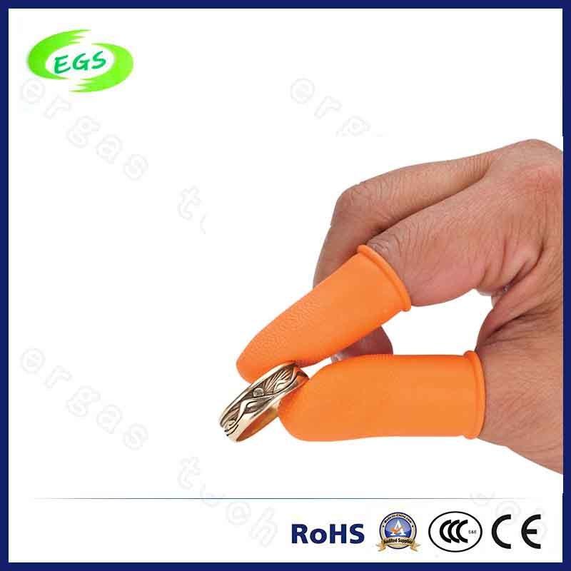 ESD Free Latex Industrial Orange Finger Cot of Skid Resistance