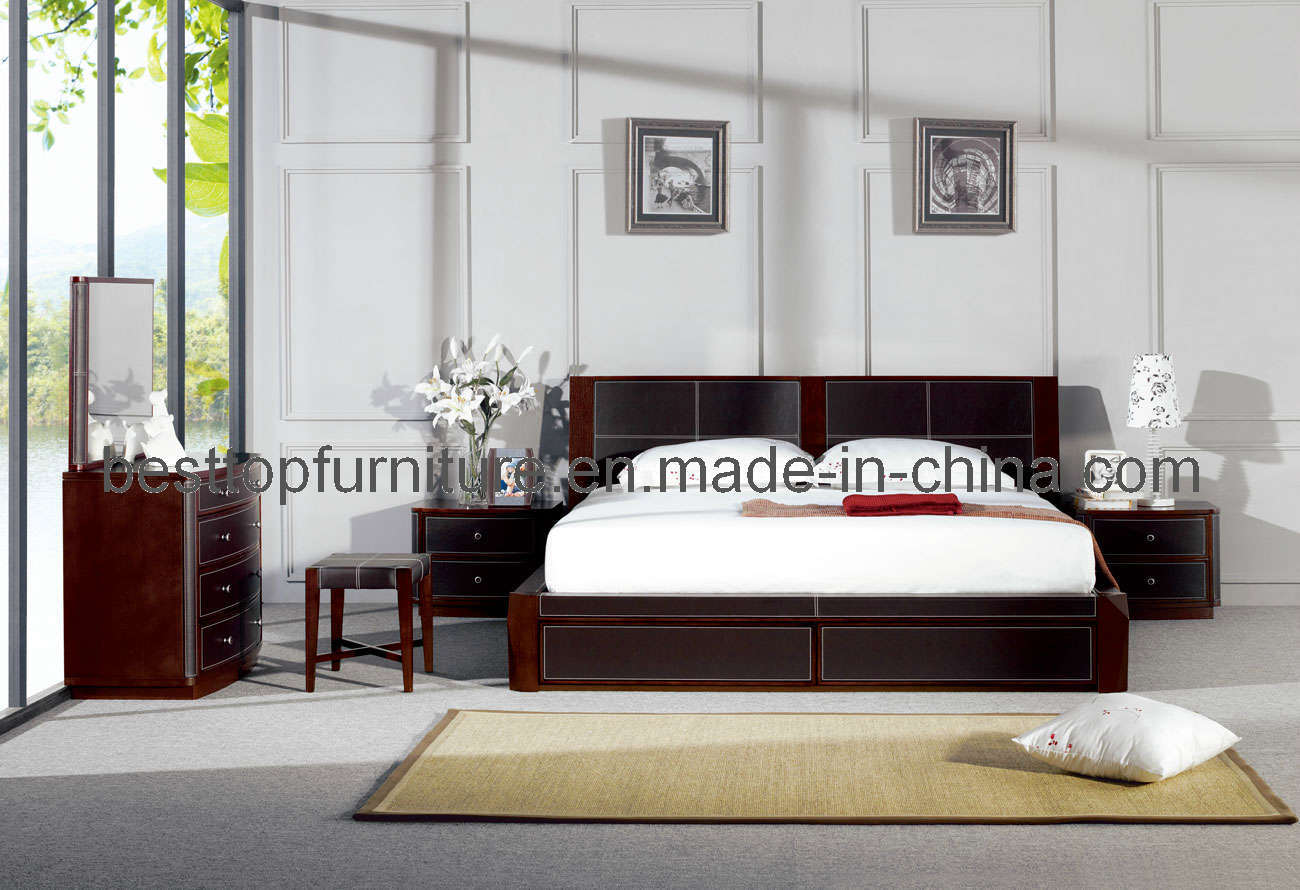 China oak veneer bedroom furniture a
