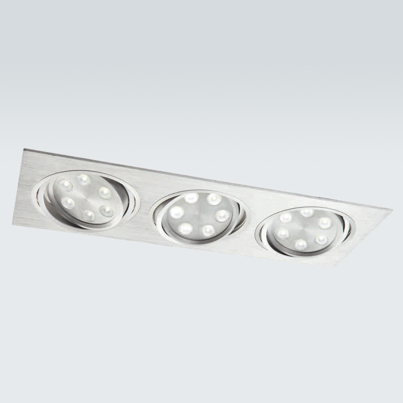china led ceiling light recessed pure aluminum ldc832