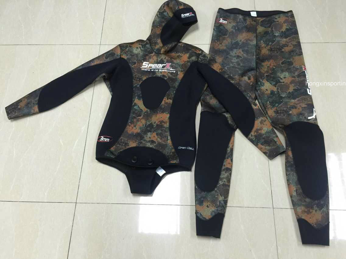 Camo Style Neoprene Spearfishing Wetsuit (HXL0001)