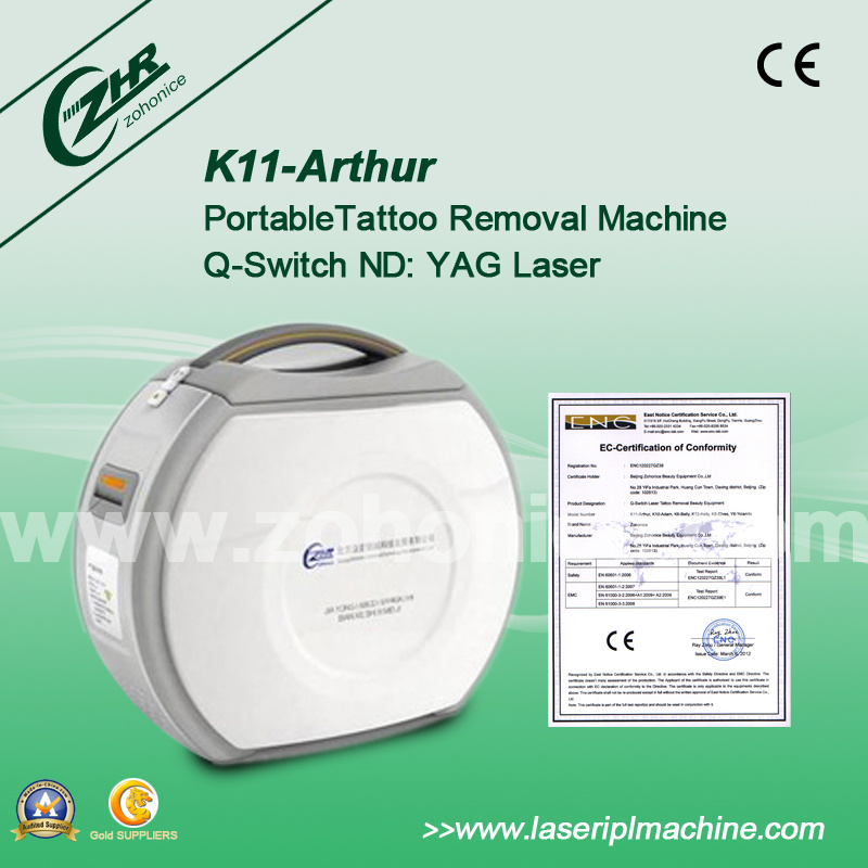 Portable Q-Switch Laser Machine for Color Tattoo Removal Laser (K11-Arthur)